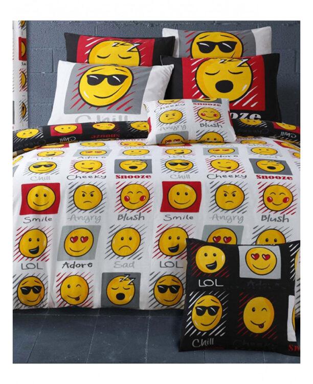 Emoji Parure copripiumino singolo Expressions