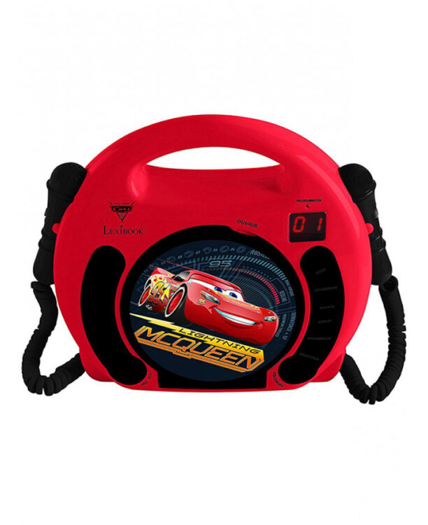 Disney Cars CD Player con Microfoni