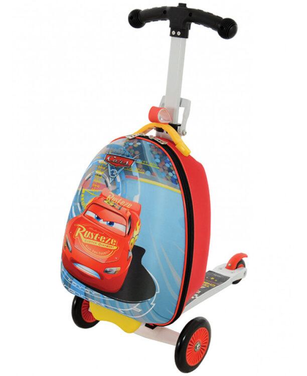 Disney Cars Monopattino con valigia 3 in 1