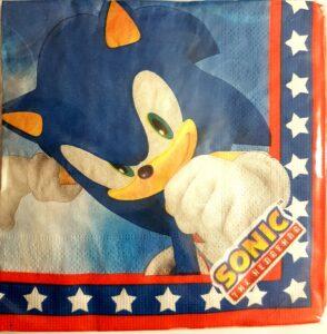 Tovaglioli festa a tema Sonic