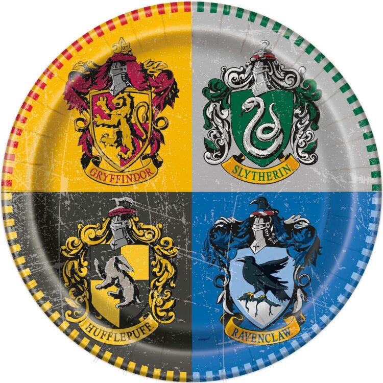 Harry Potter confezione 8 piatti festa a tema