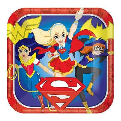 DC Comics Piatti quadrati festa Super Hero Girls
