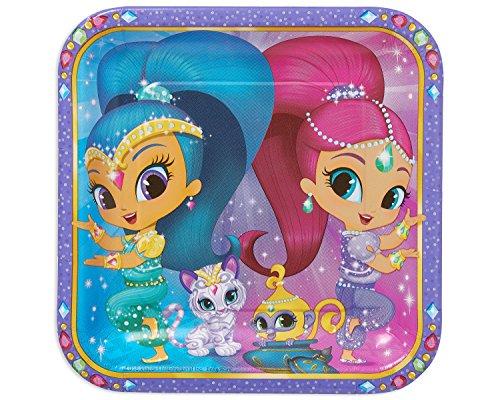 Shimmer and Shine Piatti quadrati festa a tema