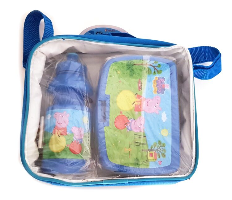 Peppa Pig e George Set Portamerenda e Borraccia
