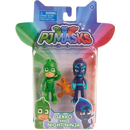 Pj Masks Blister 2 personaggi Geco e Notte Ninja