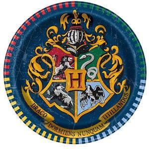 Harry Potter confezione 8 piattini torta festa a tema