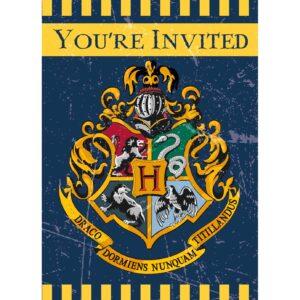 Harry Potter confezione 8 inviti festa a tema