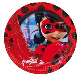 Miraculous Ladybug - Confezione 8 Piatti festa