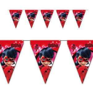 Miraculous Ladybug - Festone bandierine festa a tema