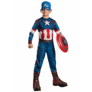 Costume Capitan America scudo incluso taglia 3-4 anni