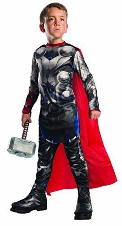 Costume Thor con martello taglia 5-6 anni