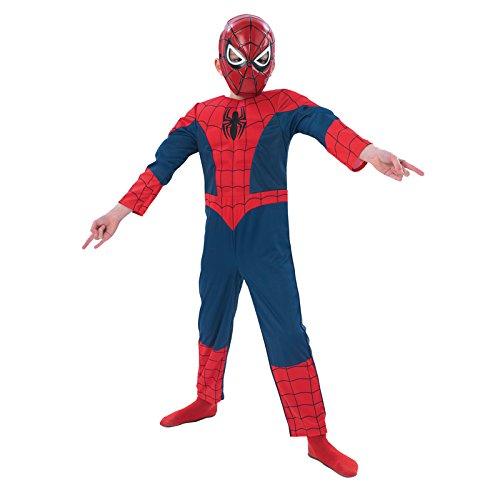Costume bambino Spiderman 7-8 anni DeLuxe