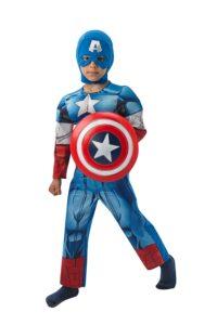 Costume Capitan America con muscoli 7-8 anni