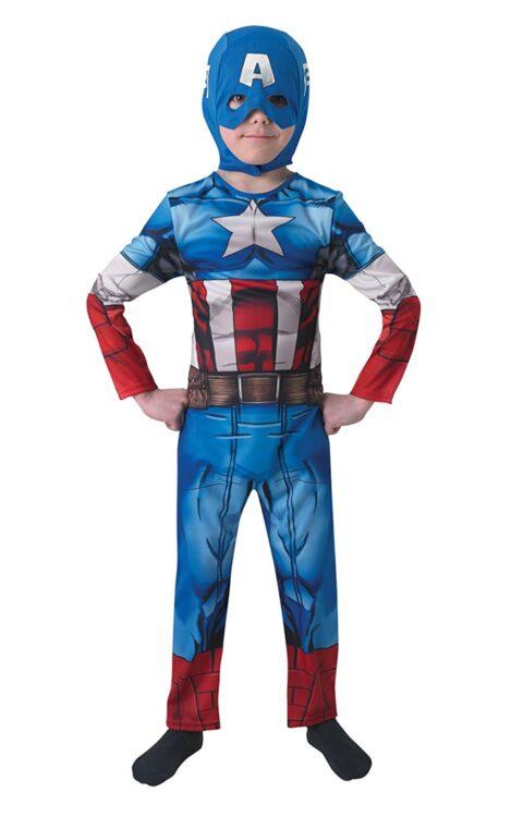 Costume Capitan America 7-8 anni Classic