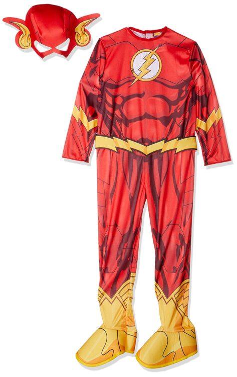 Costume Flash con muscoli 3-4 anni