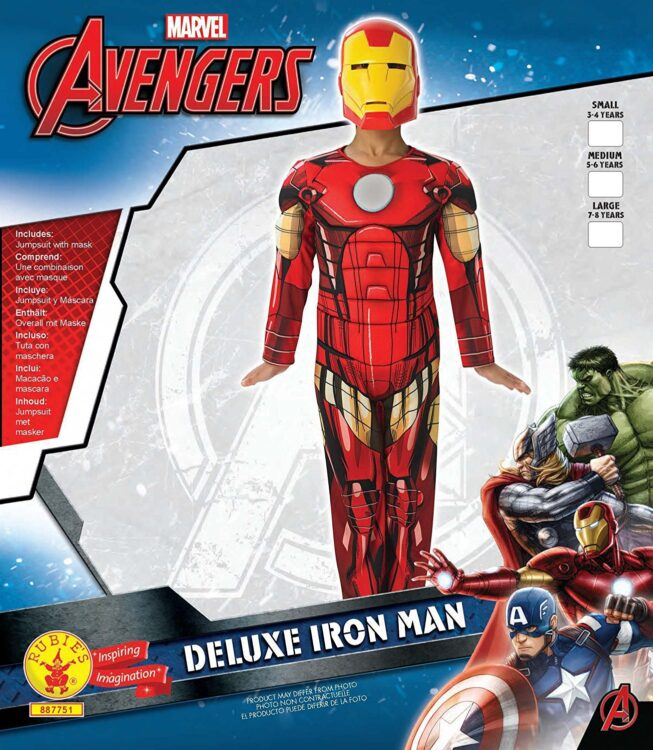 Costume Iron Man con Muscoli 7-8 anni