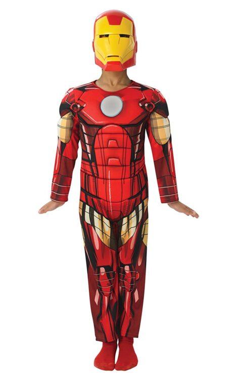 Costume Iron Man con Muscoli 5-6 anni