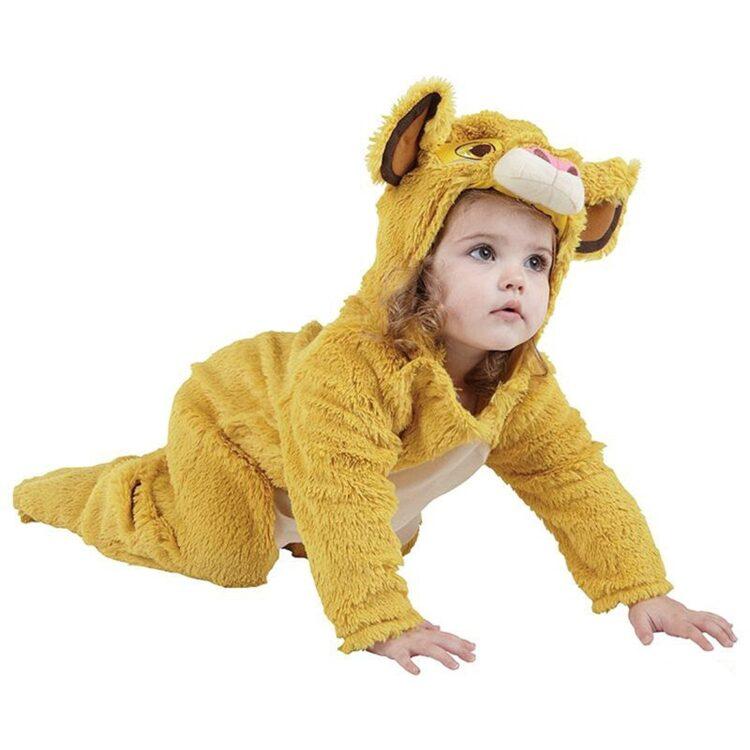 Costume Simba bimbo in peluche taglia 2-3 anni