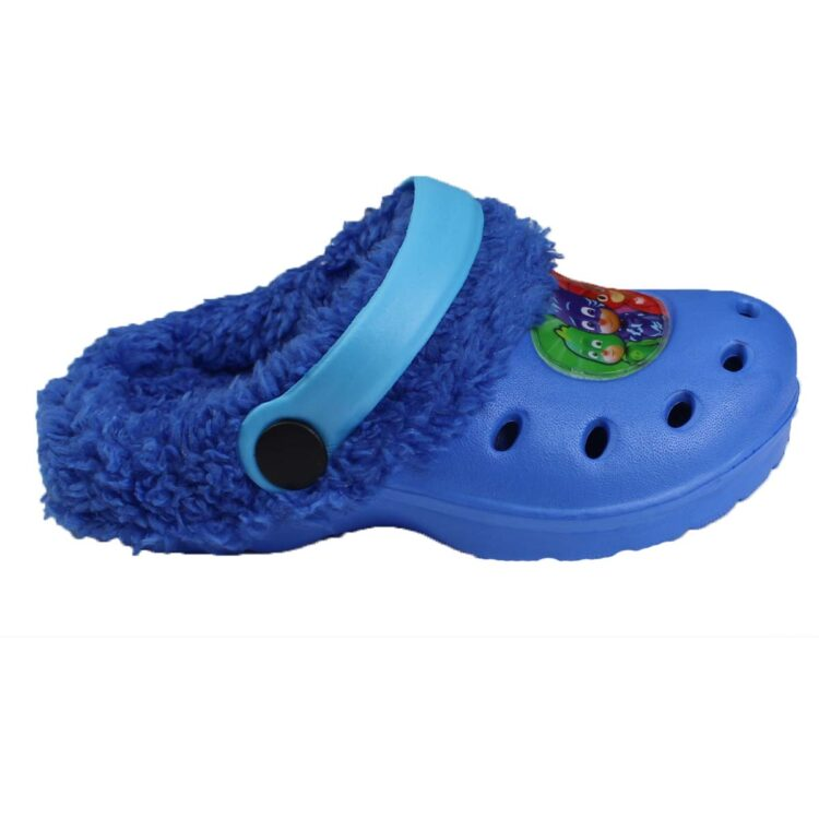 Ciabatte tipo Crocs con pelliccia Pj Masks