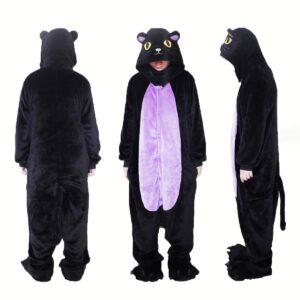 Tuta pigiamone gatto nero