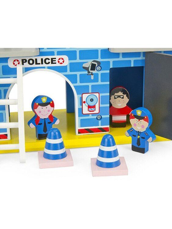 Stazione di polizia in legno Leomark