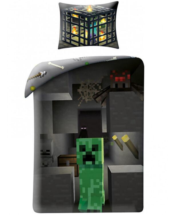 Minecraft Parure copripiumino per letto singolo Creeper