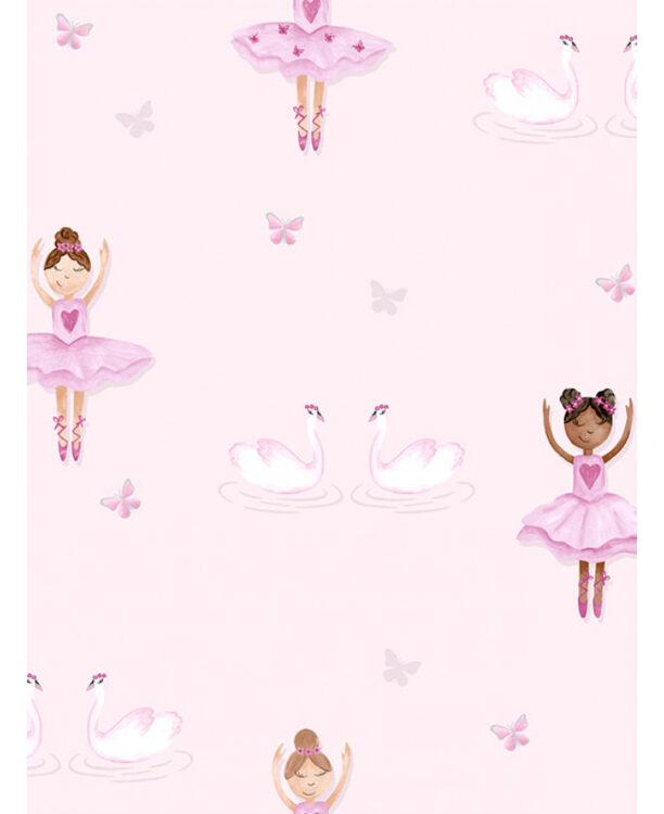 Carta da parati rosa Ballerina 10mt