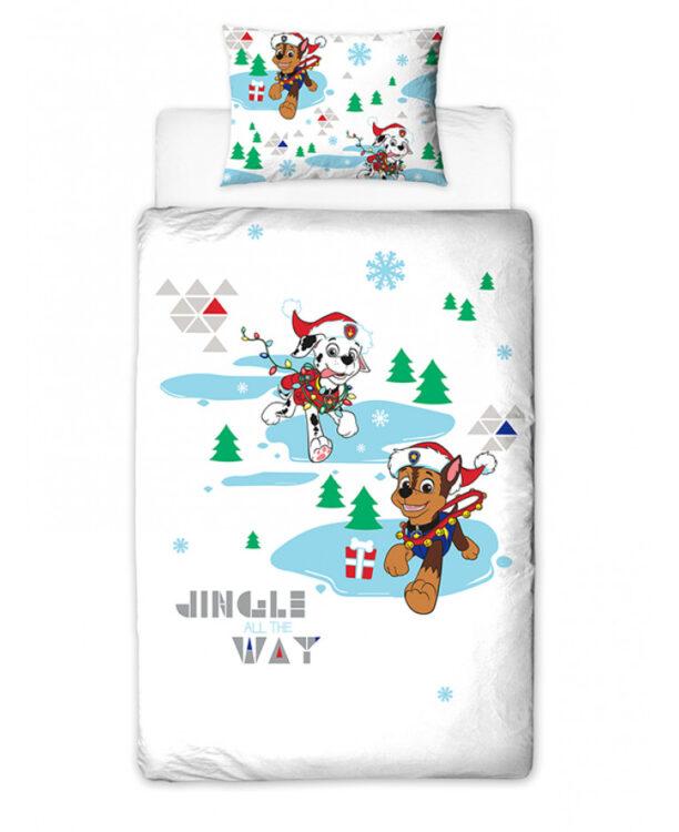 Parure copripiumino letto singolo Paw Patrol Christmas