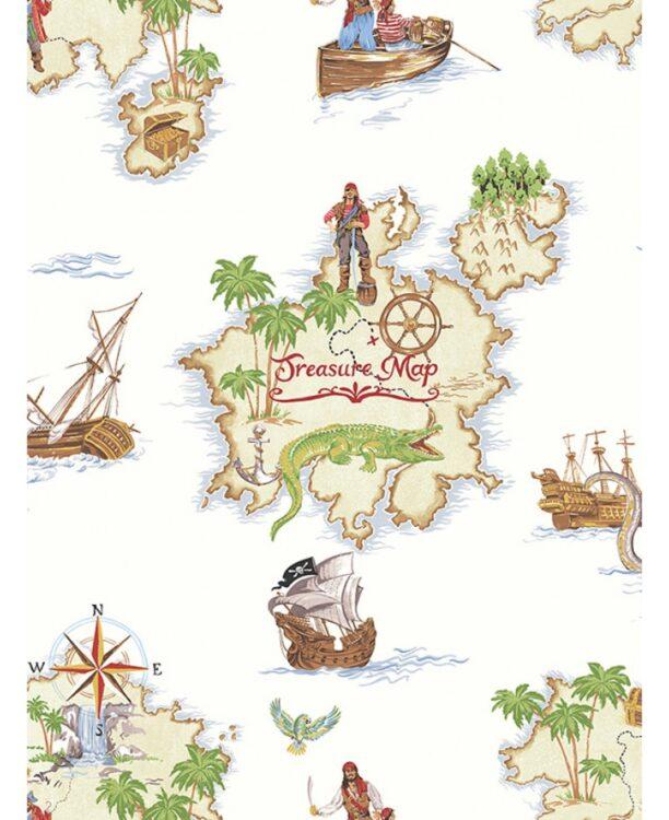 Carta da parati Mappa del tesoro 10mt