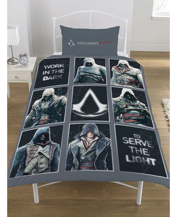 Parure copripiumino letto singolo Assassin's Creed