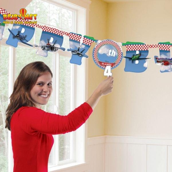 Festone Happy Birthday Disney Planes personalizzabile