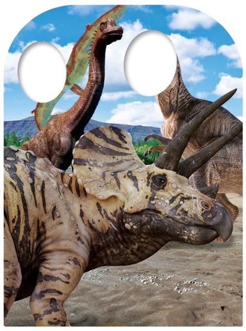 Sagoma cartonata per foto Dinosauro Triceratopo 131x95 cm