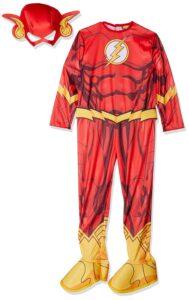 Costume Flash con muscoli 7-8 anni