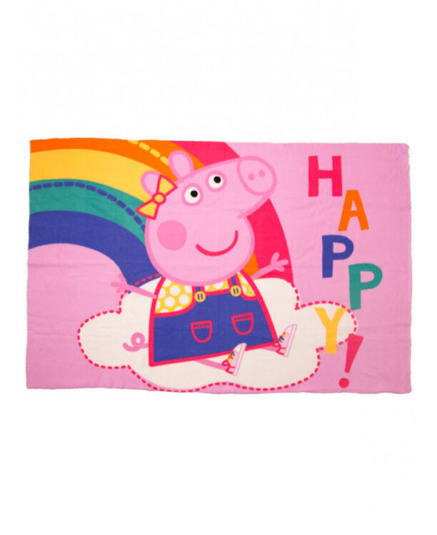 Copertina in pile Peppa Pig Happy