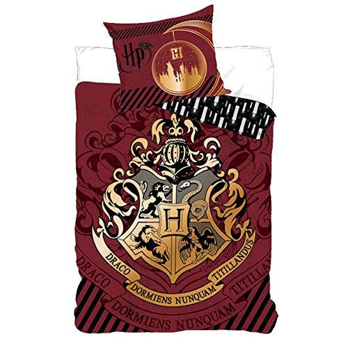 Parure copripiumino singolo Hogwarts Harry Potter