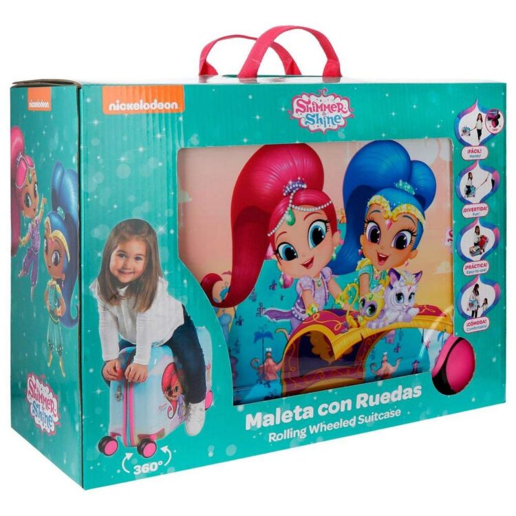 "Trolley cavalcabile Shimmer and Shine ""Flying Carpet"" viaggio"