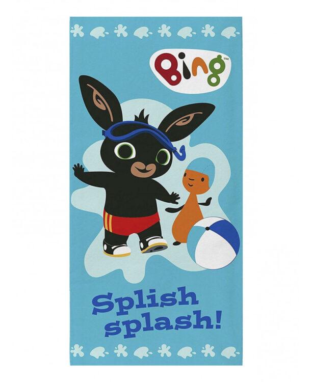 asciugamano telo mare Bing Bunny Splish Splash