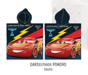 accappatoio poncho disney cars
