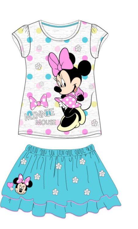 Completo Minnie t-shirt + gonna azzurra