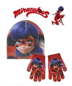 cappello + guanti miracolous ladybug