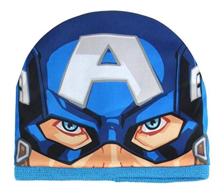 cappello e scaldacollo capitan america