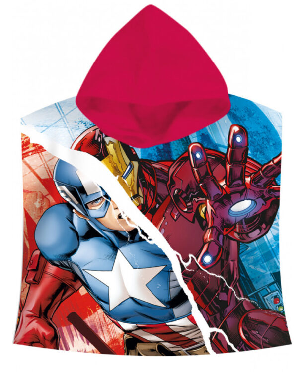 accappatoio poncho marvel avengers