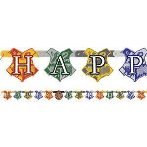 harry potter- festone bandierina festa a tema