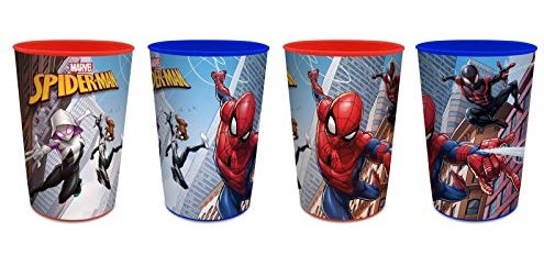 bicchiere in plastica marvel spiderman