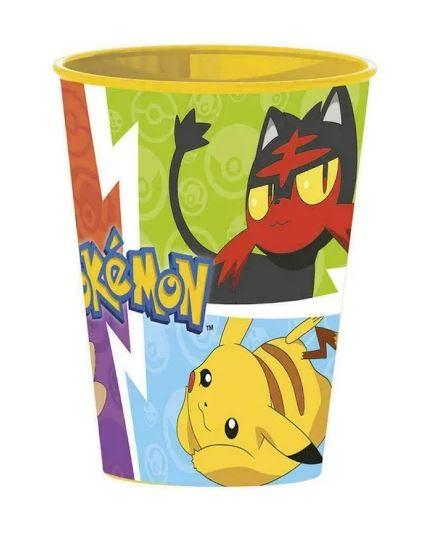 bicchiere in plastica pokemon