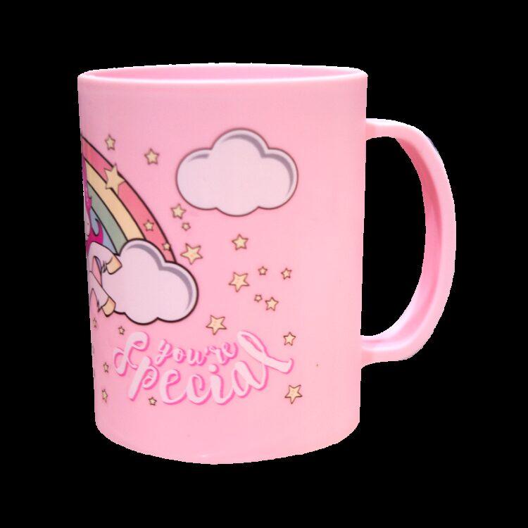 tazza in plastica unicorno