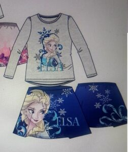 COMPLETO FROZEN DISNEY T-SHIRT + GONNA
