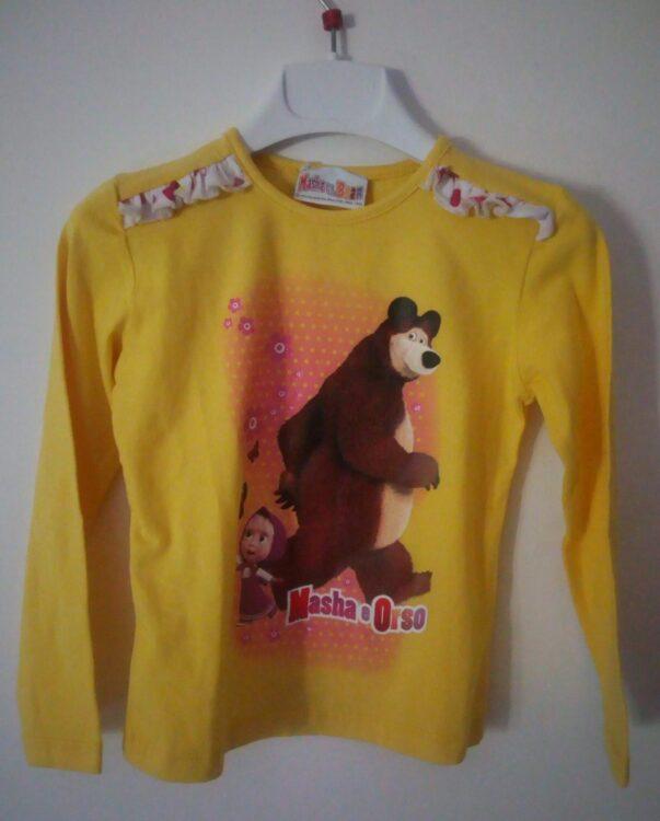 t-shirt masha e orso - tg 5 anni