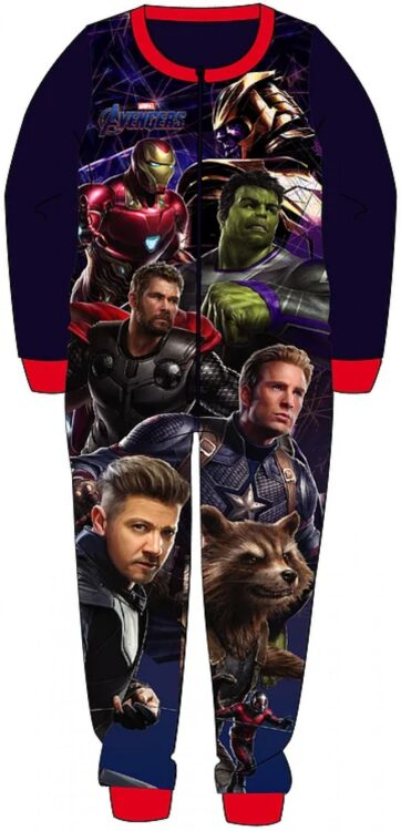 pigiama intero in pile avengers