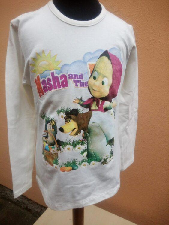t-shirt m/l masha e orso